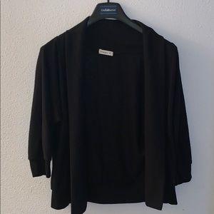 Black plain cardigan